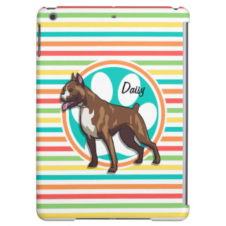 Boxer; Bright Rainbow Stripes iPad Air Covers