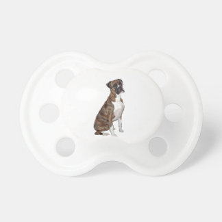 Boxer - brindle (natural ears) baby pacifiers