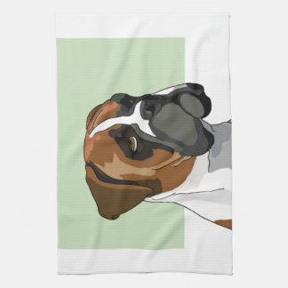 Boxer Bulldog Portrait Kitchen Towel