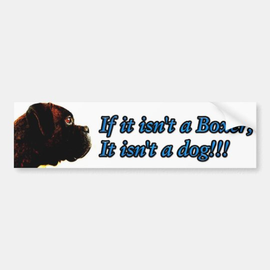 Boxer bumper sticker