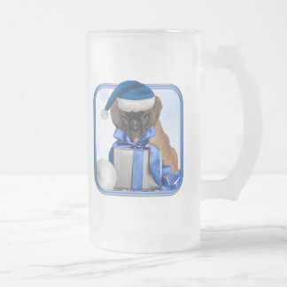 Boxer Christmas Frosted mug
