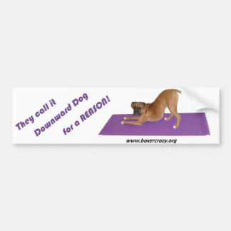 Boxer Crazy Bumpersticker - Yoga Bumper Sticker