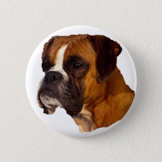Boxer dog 2 inch round button