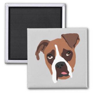 "Boxer Dog 2"" x 2"" Magnet"