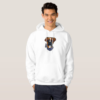 Boxer Dog 4th of July Hoodie