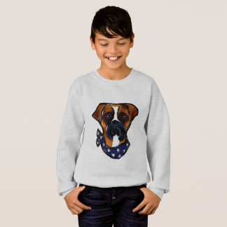 Boxer Dog 4th of July Sweatshirt