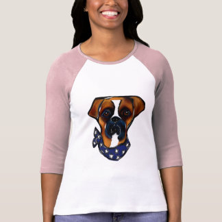 Boxer Dog 4th of July T-Shirt