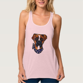 Boxer Dog 4th of July Tank Top