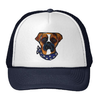 Boxer Dog 4th of July Trucker Hat