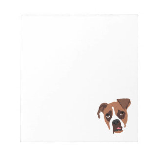 "Boxer Dog 5.5"" x 6"" Notepad"