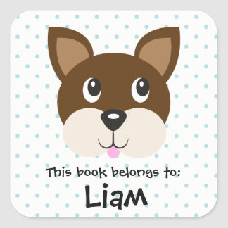 Boxer Dog Animal Face Emoji Book Sticker