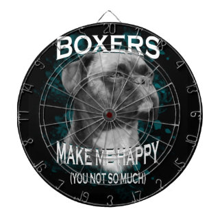 Boxer Dog Animal Lovers Art Text Dartboard