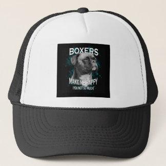 Boxer Dog Animal Lovers Art Text Trucker Hat