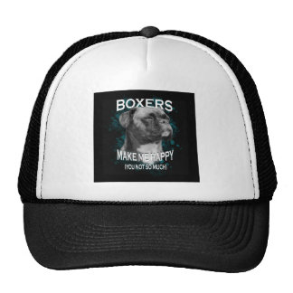 Boxer Dog Animal Lovers Art Text Trucker Hat