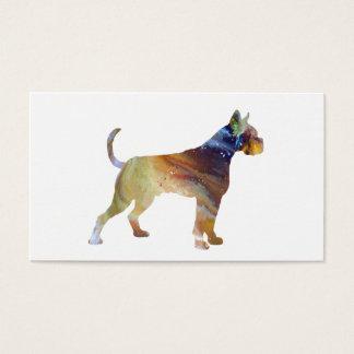 Boxer Dog Art Business Card