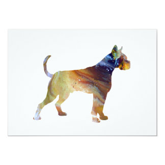 Boxer Dog Art Card