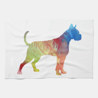 Boxer Dog Art Kitchen Towel