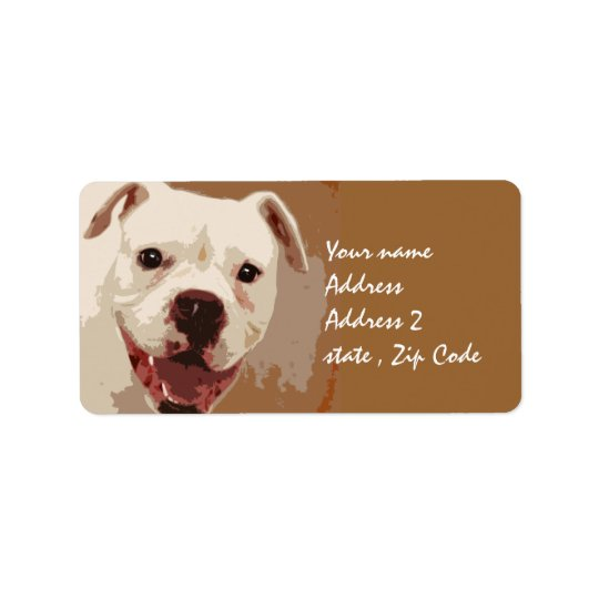 Boxer Dog Art Label