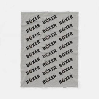 Boxer Dog Blanket - Grey