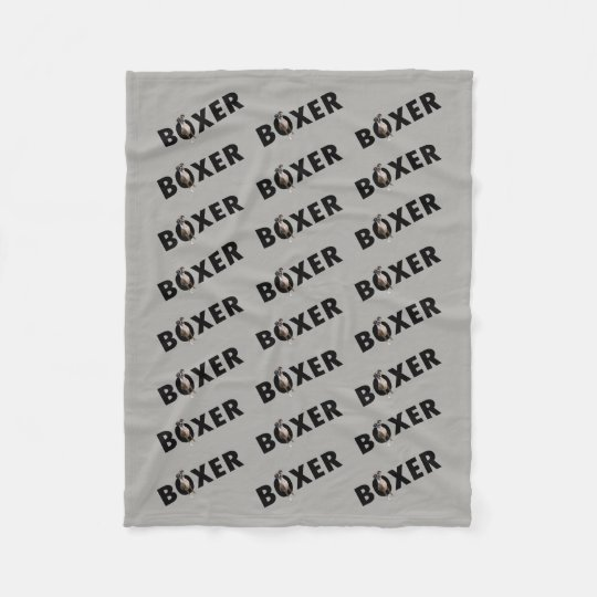 Boxer Dog Blanket - Grey