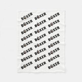 Boxer Dog Blanket - White