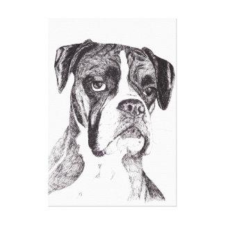 Boxer Dog Canvas