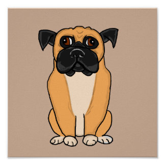 Boxer dog cards and paper products poster
