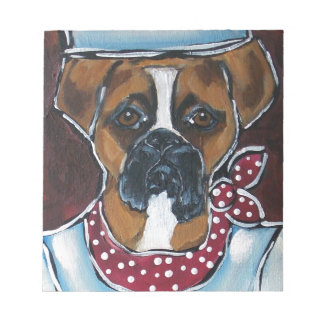BOXER DOG CHEF NOTEPAD