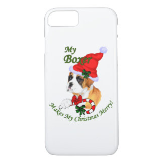 Boxer Dog Christmas iPhone 7 Case