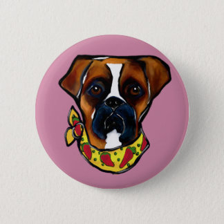 Boxer Dog Cinco de Mayo 2 Inch Round Button