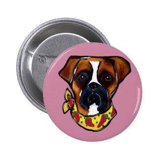 Boxer Dog Cinco de Mayo 2 Inch Round Button