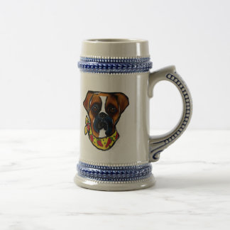 Boxer Dog Cinco de Mayo Beer Stein