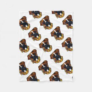 Boxer Dog Cinco de Mayo Fleece Blanket