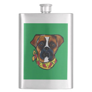 Boxer Dog Cinco de Mayo Hip Flask