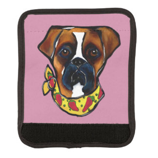 Boxer Dog Cinco de Mayo Luggage Handle Wrap