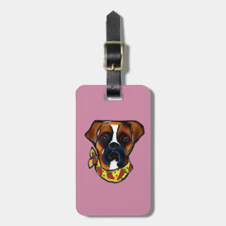 Boxer Dog Cinco de Mayo Luggage Tag