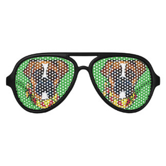 Boxer Dog Cinco de Mayo Party Sunglasses