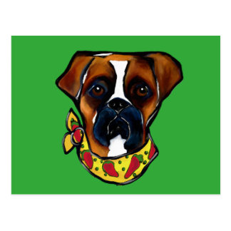 Boxer Dog Cinco de Mayo Postcard