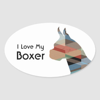 Boxer Dog  Customizable Silhouette Stickers