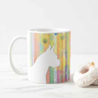 Boxer Dog  Customizable Watercolor Silhouette Mug