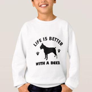 boxer dog design sweatshirt
