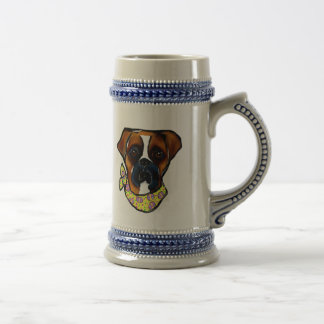 Boxer Dog Easter Beer Stein