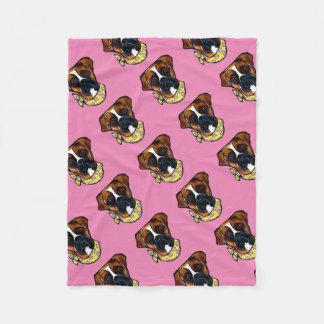 Boxer Dog Easter Fleece Blanket