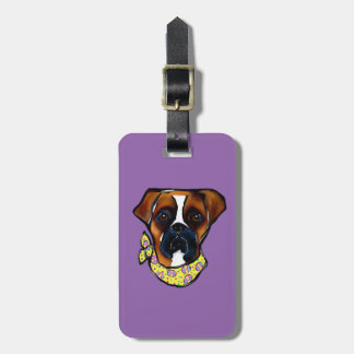 Boxer Dog Easter Luggage Tag
