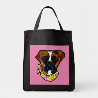 Boxer Dog Easter Tote Bag