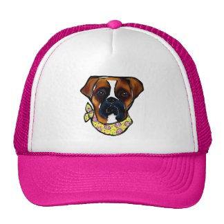 Boxer Dog Easter Trucker Hat