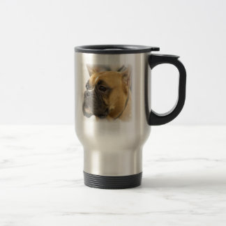 Boxer Dog Face Travel Mug