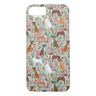 Boxer Dog Florals Case-Mate iPhone Case