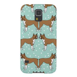 Boxer Dog in Mint - Illustration / Andrea Lauren Galaxy S5 Cases