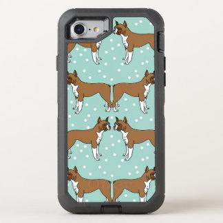 Boxer Dog in Mint - Illustration / Andrea Lauren OtterBox Defender iPhone 7 Case